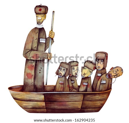 The Polar Ark - Allegory Of The Communist concentration camp GULAG - stock photo