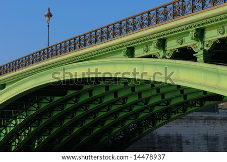 The Pont Notre-Dame and its elegant underside structure, Paris