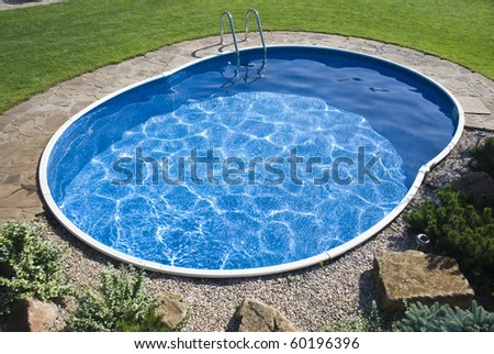 The pool with the steps - stock photo