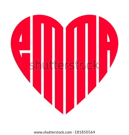 The Popular Female Name Emma And Heart