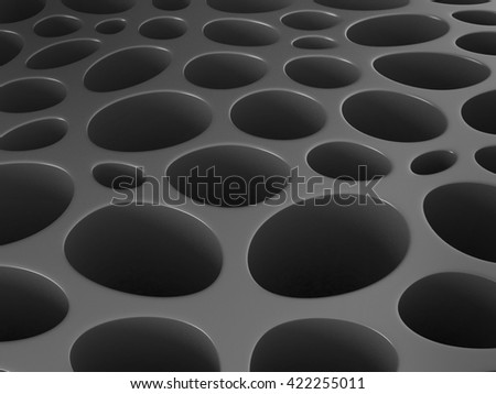 The porous structure abstract background.