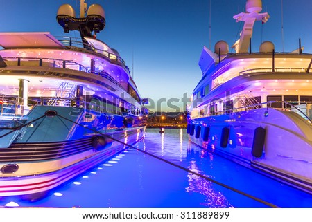 The port of Antibes, French Riviera - stock photo