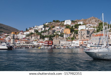 The port of Hydra Island, Greece