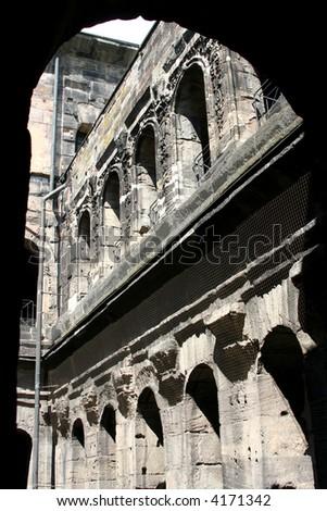 The Porta Nigra, Roman city gate in Trier, Germany - stock photo