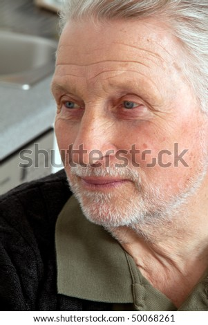The portrait of an older man. - stock photo