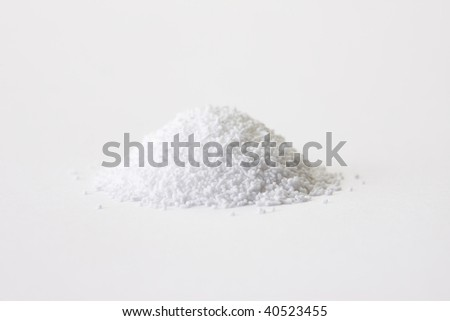The powdered medicine which got on white paper.