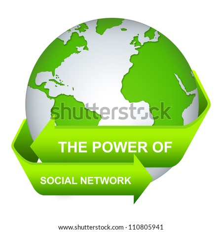 The Power of Social Network Concept Isolate on White Background
