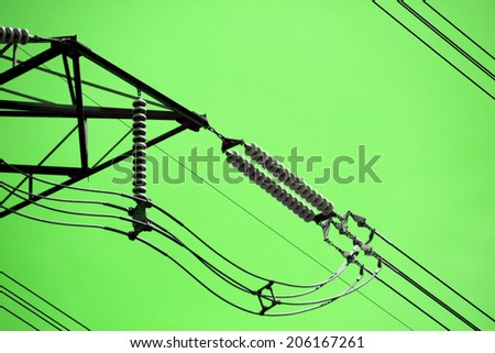 The power transmission line tower - stock photo