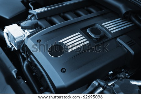 The powerful engine of the modern car