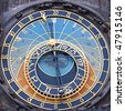 The Prague Astronomical Clock  is a medieval astronomical clock located in Prague, Chzech Republic - stock photo