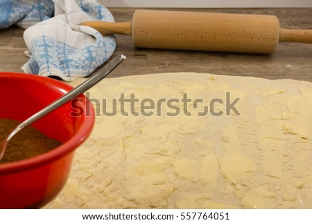 The preparation of cinnamon rolls