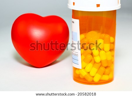 The prescription medication -  a conceptual image on health, cost, and medical insurance - stock photo
