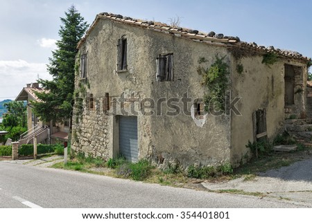The present a provincial interior of Tuscany, Italy, Europe. - stock photo