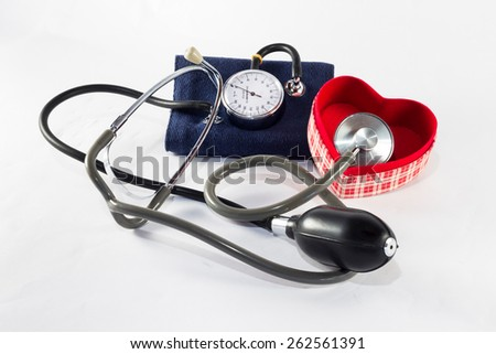The pressure gauge to control our blood pressure - stock photo