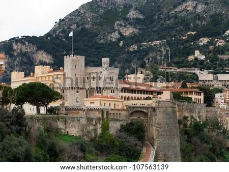 The Prince's Palace of Monaco - stock photo
