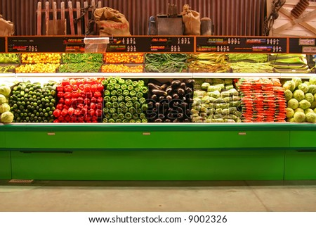 The Produce Aisle - stock photo