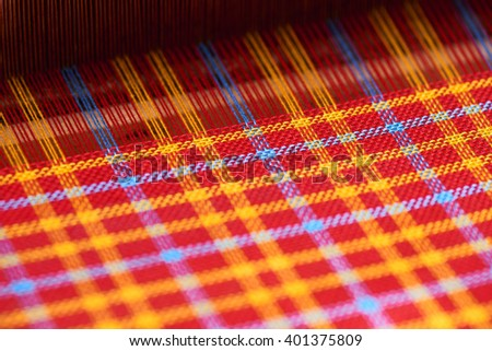 The product of handicraft textiles - stock photo