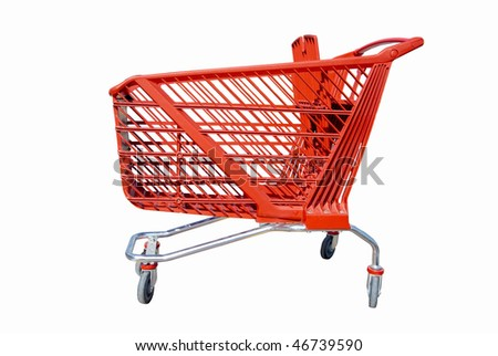 The profile of a typical trolley - shown here isolated - stock photo