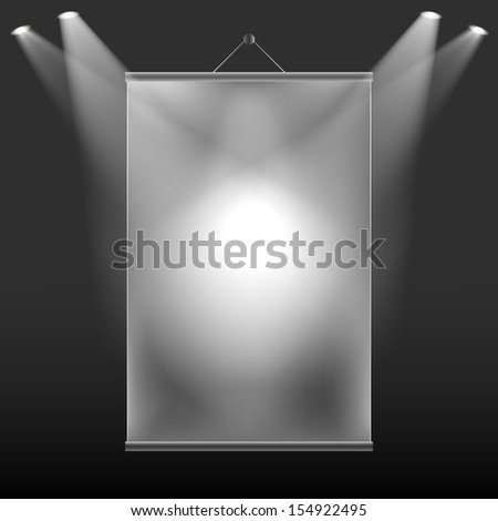 The projection of light on the wall screen. Raster copy