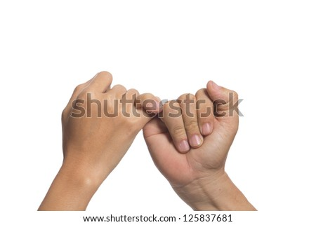 The promise each other to each other - stock photo