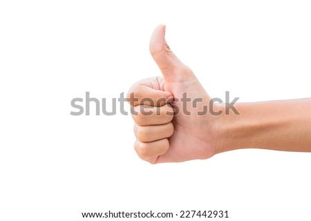 The promise hand look - stock photo