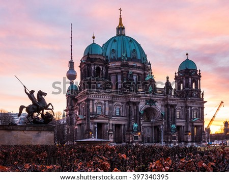 The Protestant Berlin Cathedral (Berliner Dom), Germany - stock photo