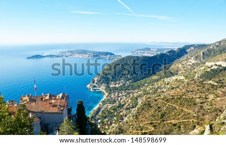 The Provence region is rich in great landscapes, Eze (near Monaco and Nice), Provence-Alpes-Cote d'Azur region, France. - stock photo