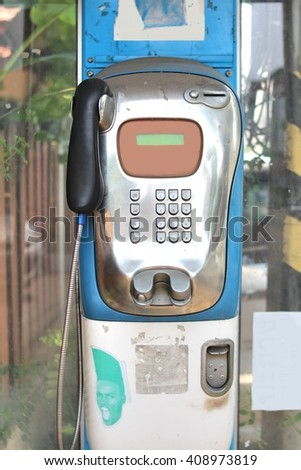The Public telephone on a street in Thailand