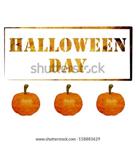 the pumpkin is 3d for Halloween in october - stock photo