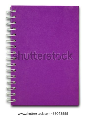 The purple cover of Note book - stock photo
