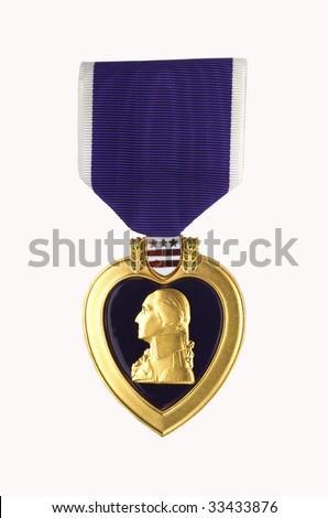 The Purple Heart - stock photo
