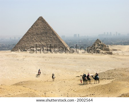 The pyramid of Menkaure , Giza, Egypt