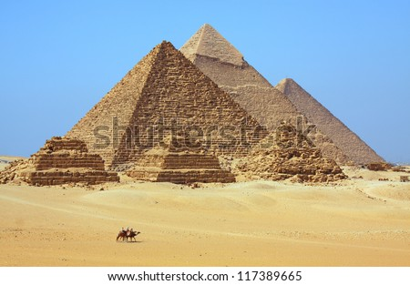 The Pyramids in Egypt - stock photo