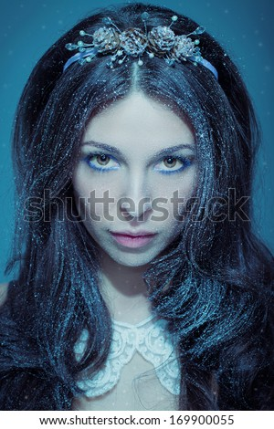 The queen of snow - stock photo