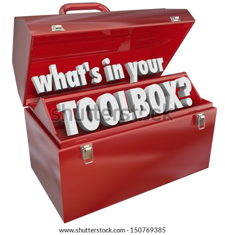 The question What's in Your Toolbox? asking if you have the skills and experience necessary to perform a task or job - stock photo
