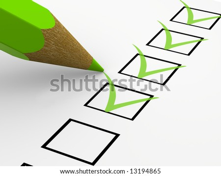 The questionnaire - stock photo