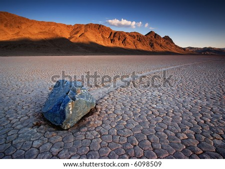 The Racetrack at Death Valley National Park - stock photo