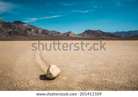 The Racetrack in Death Valley - stock photo