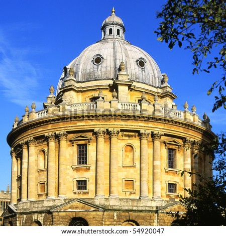 The Radcliffe Camera building in Radcliffe Square. Oxford. England. (Bodleian Library reading room) - stock photo