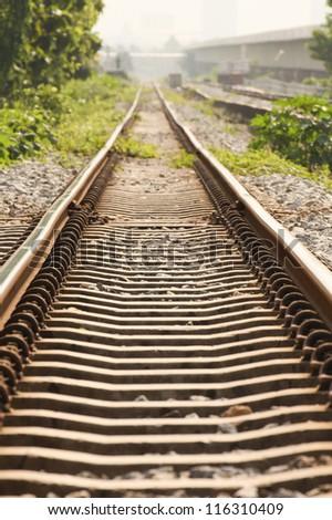 The railroad - stock photo