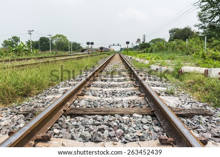 the railway - stock photo