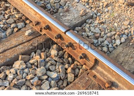 The railway - stock photo