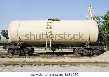 The railway tank for transportation petrol products