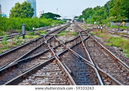 The Railway track - stock photo
