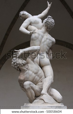 The Rape of the Sabine Women - stock photo