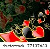 the raster abstract play card background - stock photo