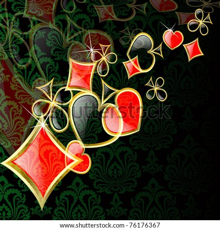 the raster abstract play card background