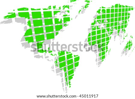 the raster green world map (vector version in portfolio)