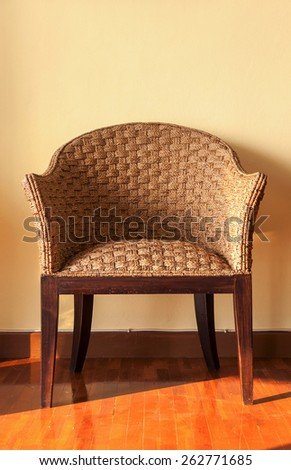 The rattan chair - stock photo