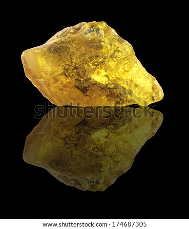 The raw amber from coast of the Baltic sea of the Kaliningrad area